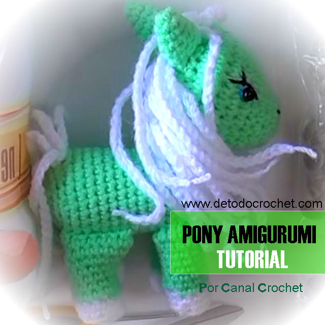 como tejer amigurumi pony crochet video