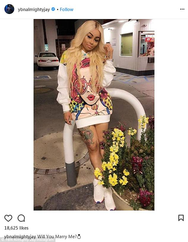Blac Chyna's teen boyfriend YBN Almighty Jay asks her: 'Will you marry me?'