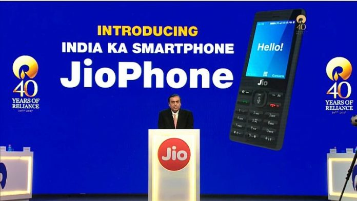 Reliance launches its JioPhone; a feature phone effectively priced at N0