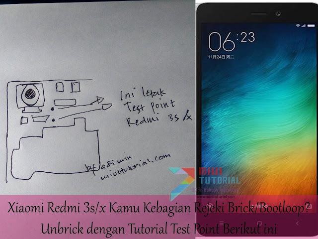 Xiaomi Redmi 3s/x Kamu Kebagian Rejeki Brick/Bootloop? Unbrick dengan Tutorial Test Point Berikut ini