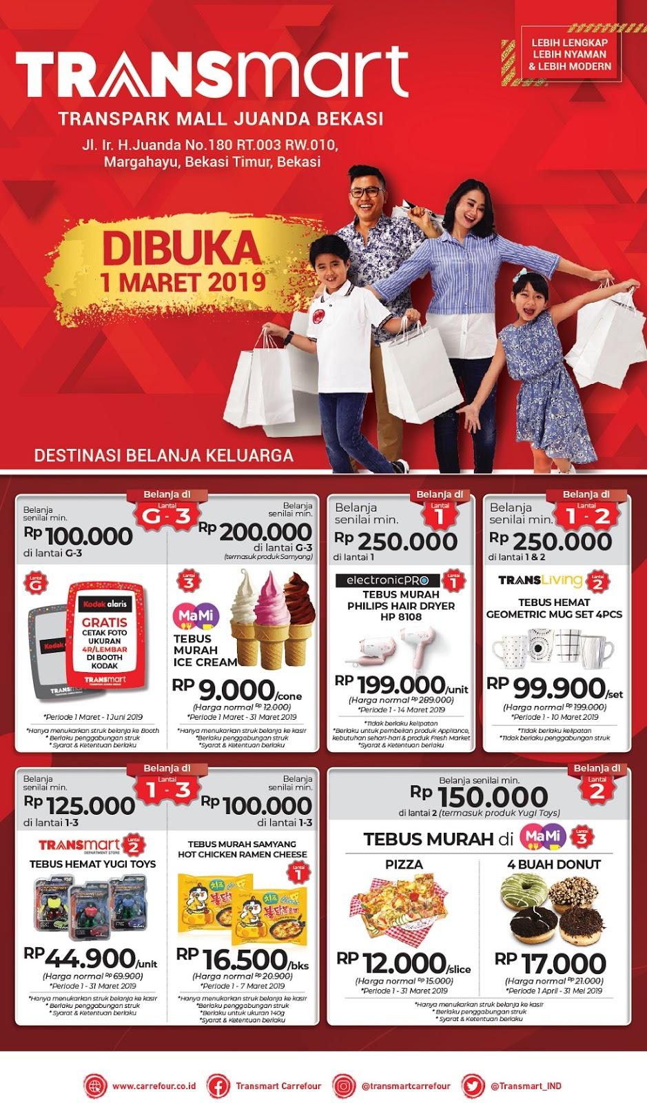 #Transmart #Carrefour - #Promo Opening Transpark Mall Juanda Bekasi (s.d 03 Maret 2019)