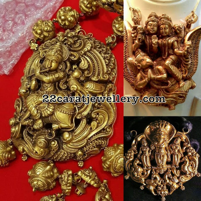 Lord Krishna Ganesh and Shiva Pendants