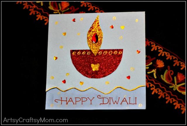 DIY Diwali Card   15+ Diwali card making ideas Diwali Dhamaka   India Crafts DIY card Diwali