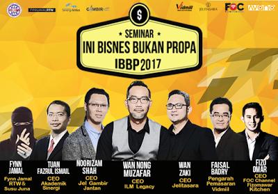Tokoh korporat, tokoh usahawan, Tuan Wan Nong Muzafar, ILM Legacy Sdn Bhd, Ini Bisnes Bukan Propa, IBBP 2017, eUsahawan