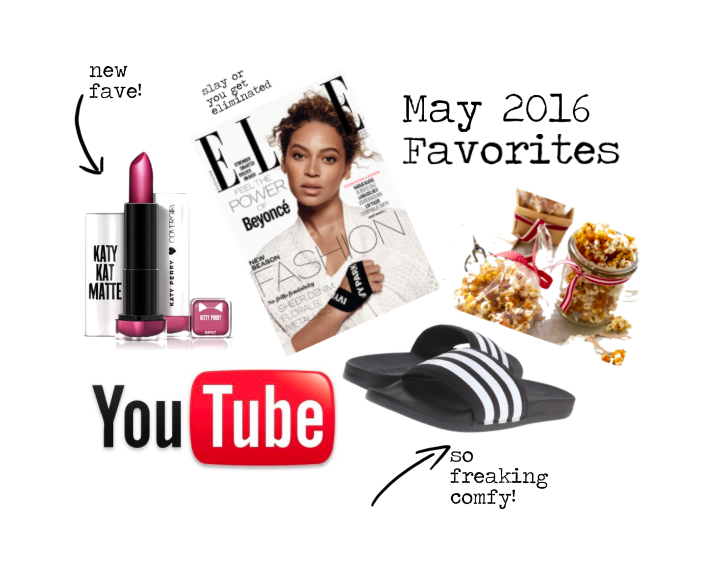 may favorites, monthly favorites, adidas, katy perry, cover girl, popcorn, youtube, portland blogger, portland fashion and lifestyle blogger, theptowngirls, beyonce, lemonade