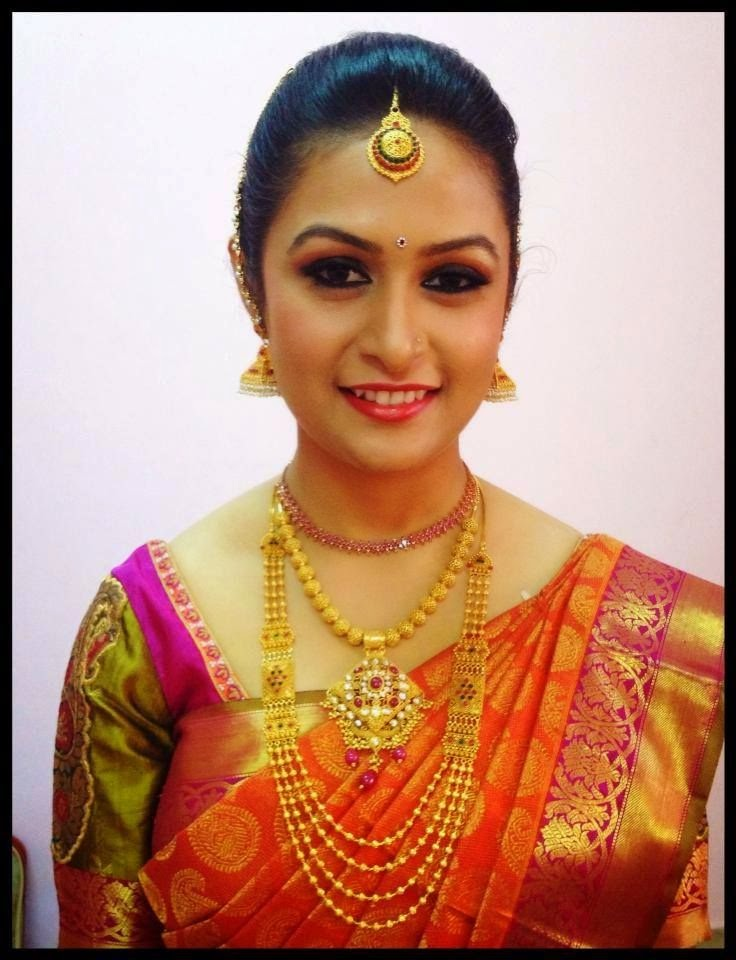 LATEST INDIAN WEDDING SILK SAREEJEWELLERYWEDDING HAIR STYLE SIMPLE INDIAN WEDDING MAKE UP