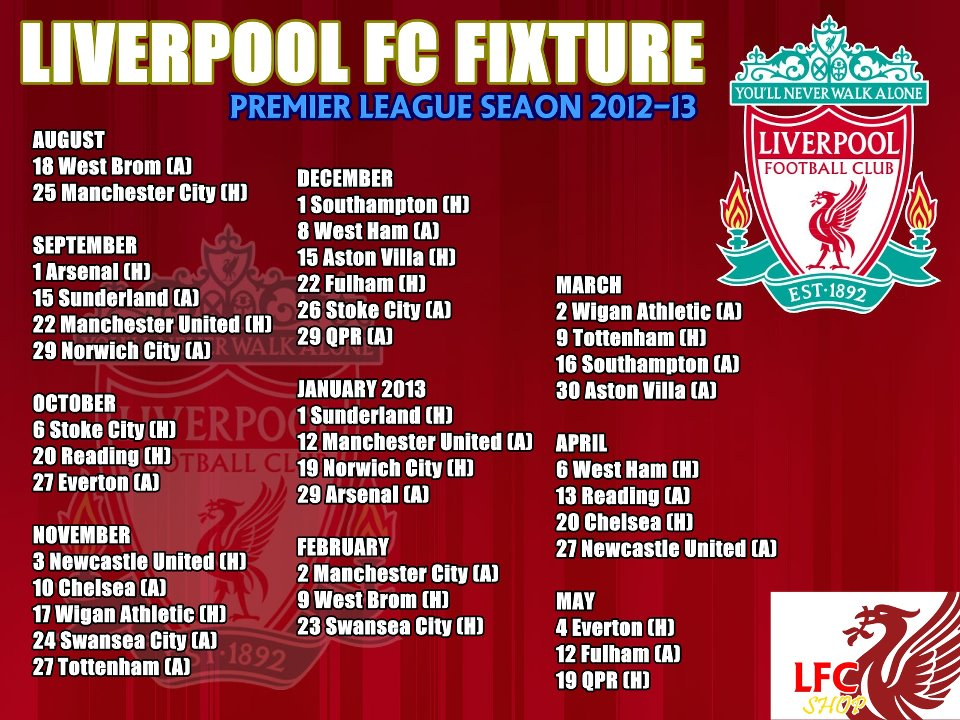 liverpool fixtures - photo #45