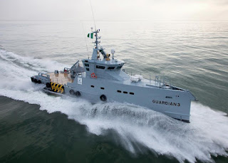 Nigeria receives third Damen patrol ship