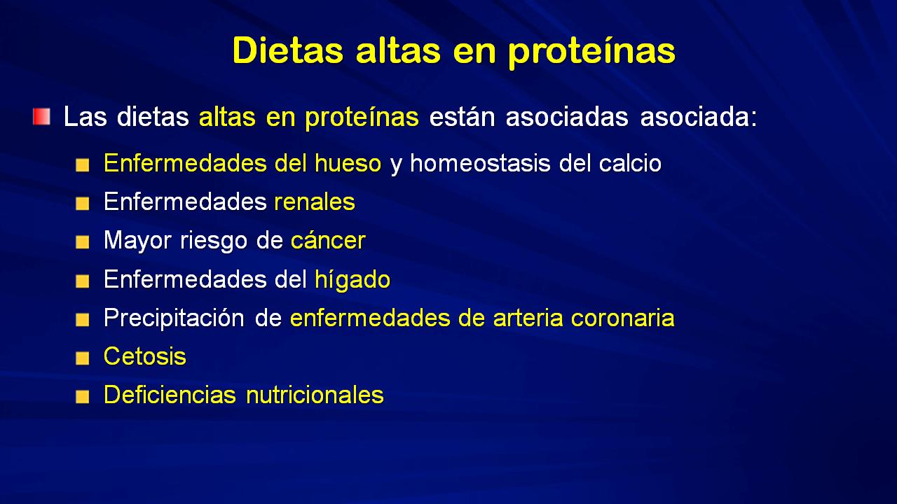 Dieta de proteinas e hidratos