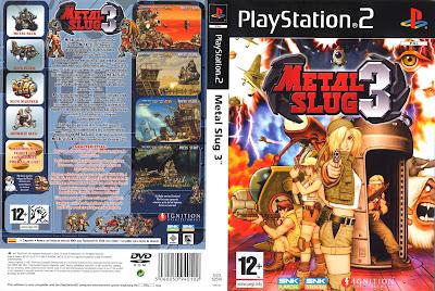 Jogo Metal Slug 3 PS2 DVD Capa
