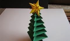 Arbolito de navidad en origami