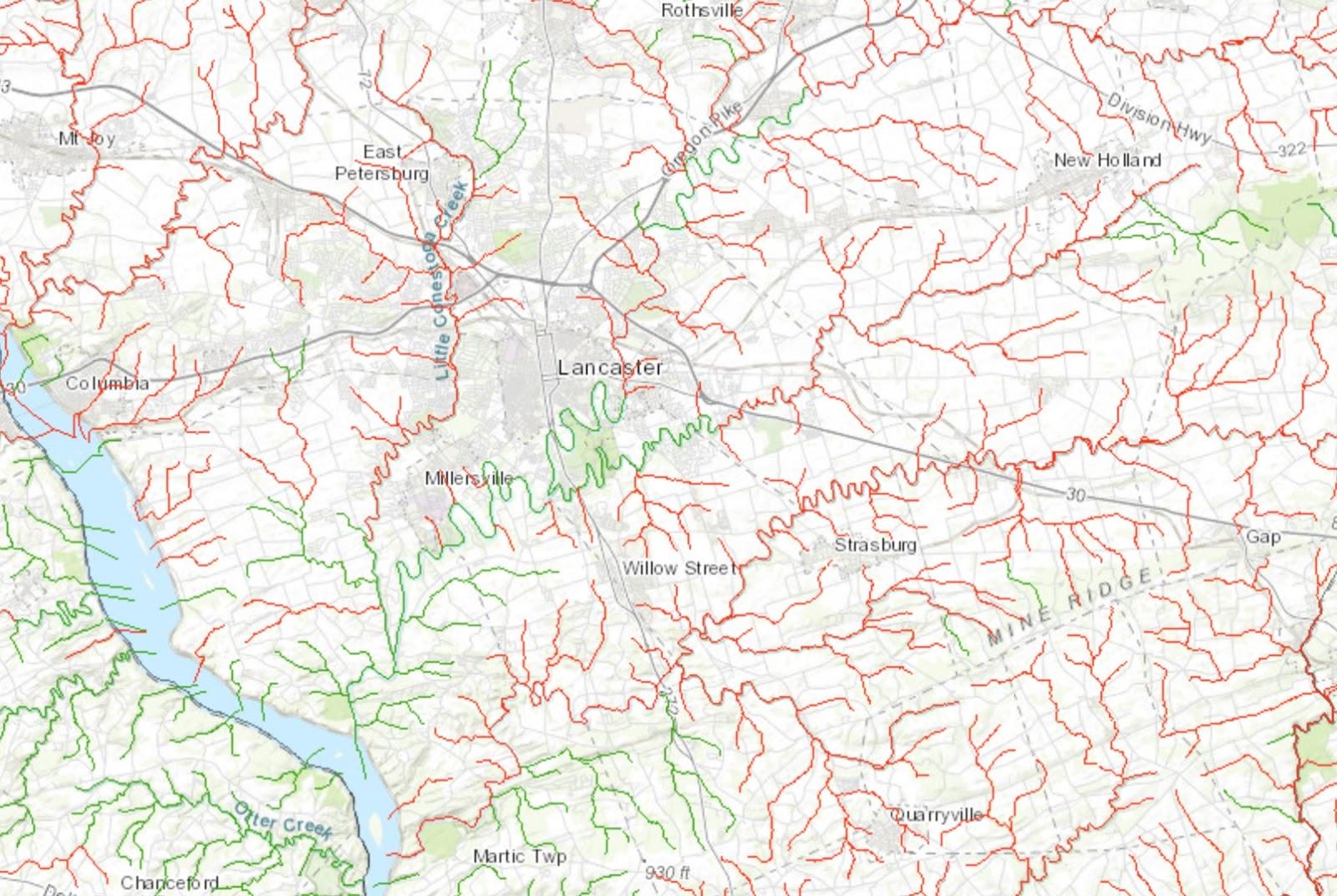 Map Pennsylvania S Rivers Lakes And Streams