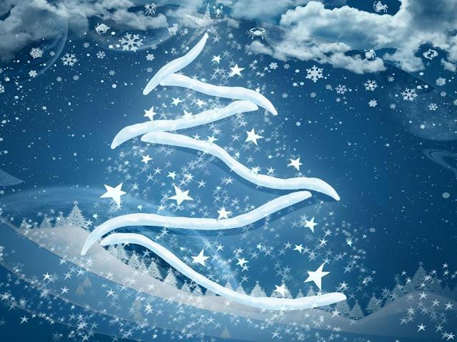 1024x768 christmas snowy christmas tree snow star wallpaper iPad