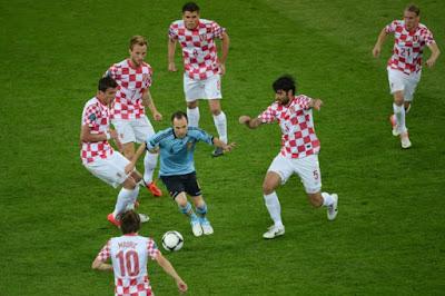 Iniesta en de zes Kroaten