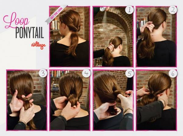 Loop Ponytail Hairstyle
