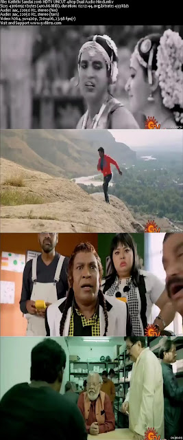 Kaththi Sandai 2016 HDTV UNCUT 480p Dual Audio Hindi