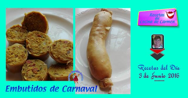 Embutidos de Carnaval