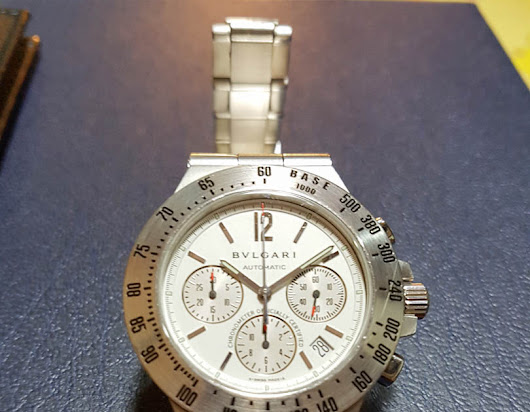 Original Bulgari Diagono Professional Chronograph 42 mm White Creamy Dial