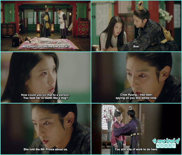 hae soo shout at wang so for treating chae ryung like a dong and wang so told she was sying on her - Moon Lovers Scarlet Heart Ryeo - Episode 18 (Eng Sub)