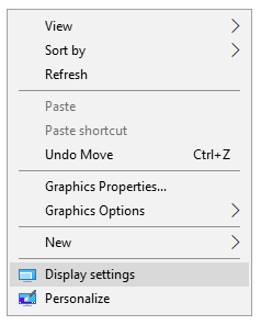 Klik kanan pada desktop