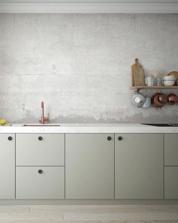 Sandy Beige Kitchen Cabinets