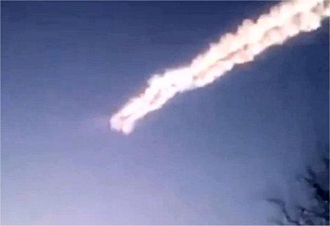 Enlace a un video que muestra la explosión del meteoro.