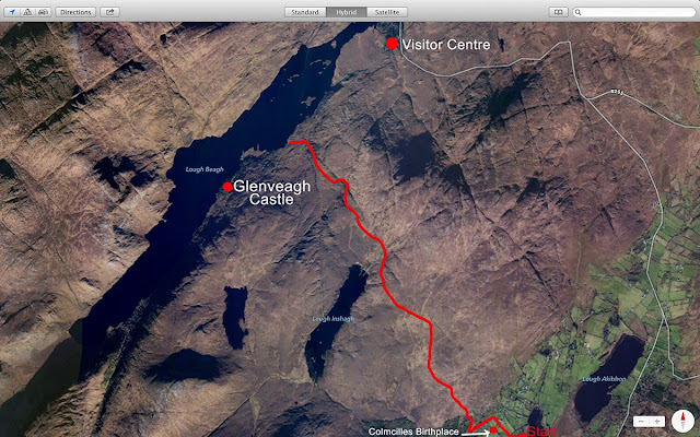 Map of the Lough Inshagh walk route