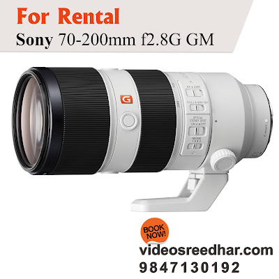 Sony FE 70-200mm f/2.8 GM OSS Lens for rent trivandrum
