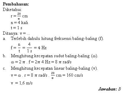 Menghitung frekuensi, kecepatan sudut dan kecepatan linear