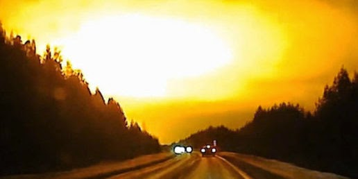 Mysterious light that appears in the sky of Russia