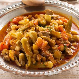 Okra Stew with Ground Meat (Kiymali Bamya)