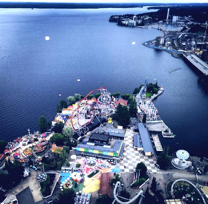 Finlandiya'nın Tampere şehrindeki Lunapark ve Eğlence Alanı