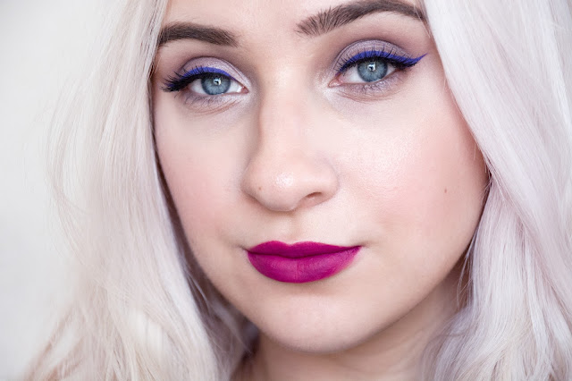 purple lipstick for blondes
