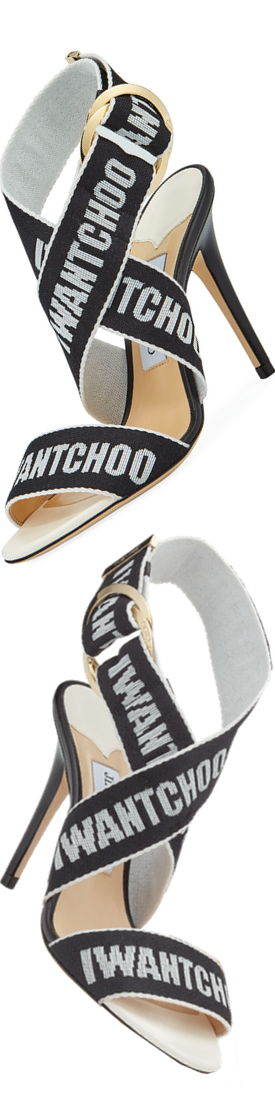 Jimmy Choo Bailey Logo-Web Sandal