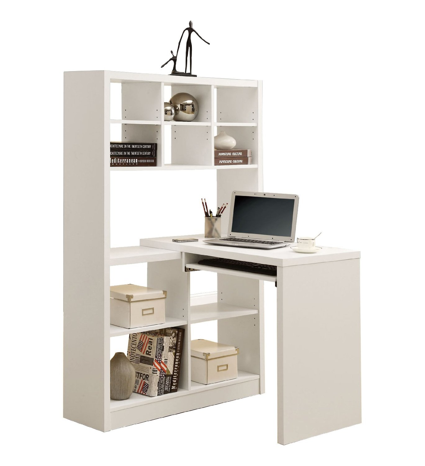 White Corner Desk: White Corner Desk With Hutch