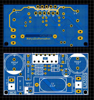 PCB Layout Super Gainclone Amplifier LM3886