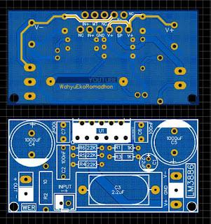 PCB Layout Super Gainclone Amplifier LM3886