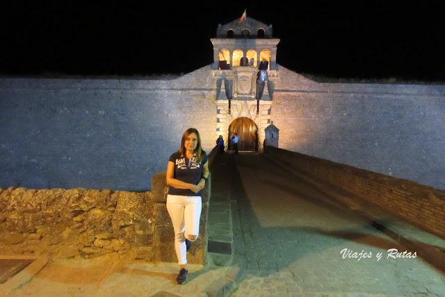 Ciudadela de Jaca de Noche