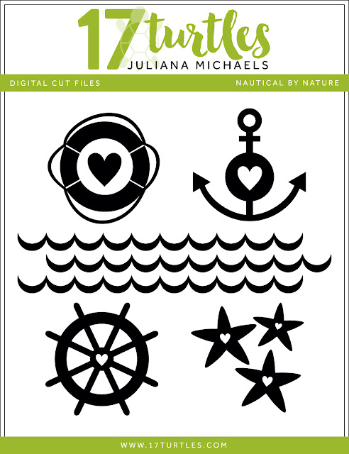 Nautical By Nature Free Digital Cut File by Juliana Michaels 17turtles.com