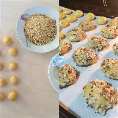 Portakal Aromalı Fındıklı Kurabiye , fındıklı kurabiye, portakal kokulu kurabiye