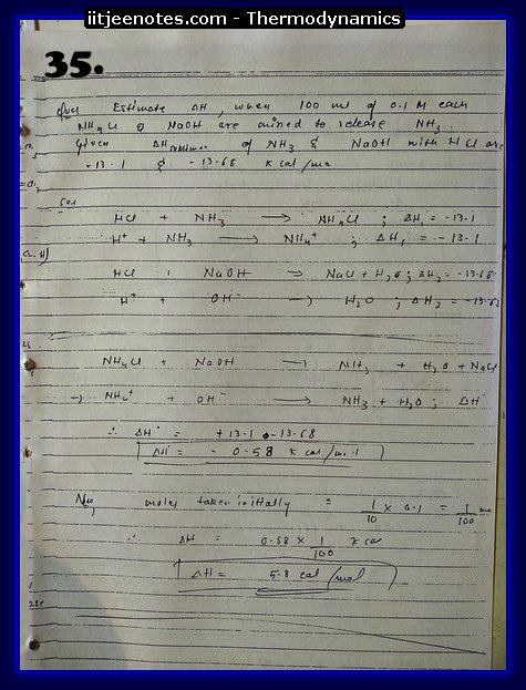 Thermodynamics Notes IITJEE 3