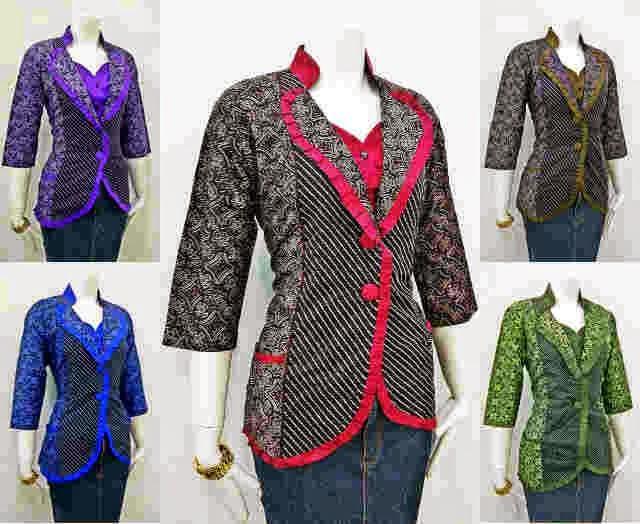 Model Baju Kerja Batik Wanita Terbaru Model Batik 2019