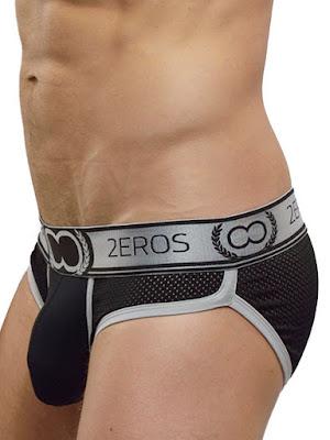 2Eros Olympus Brief Underwear Silver Detail Gayrado Online Shop