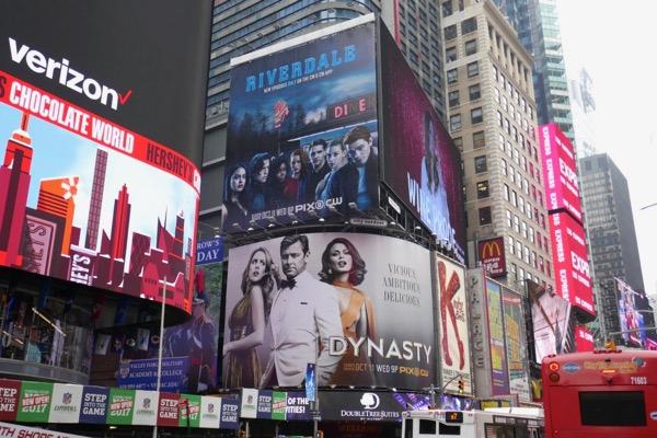 Riverdale Dynasty CW billboards NYC