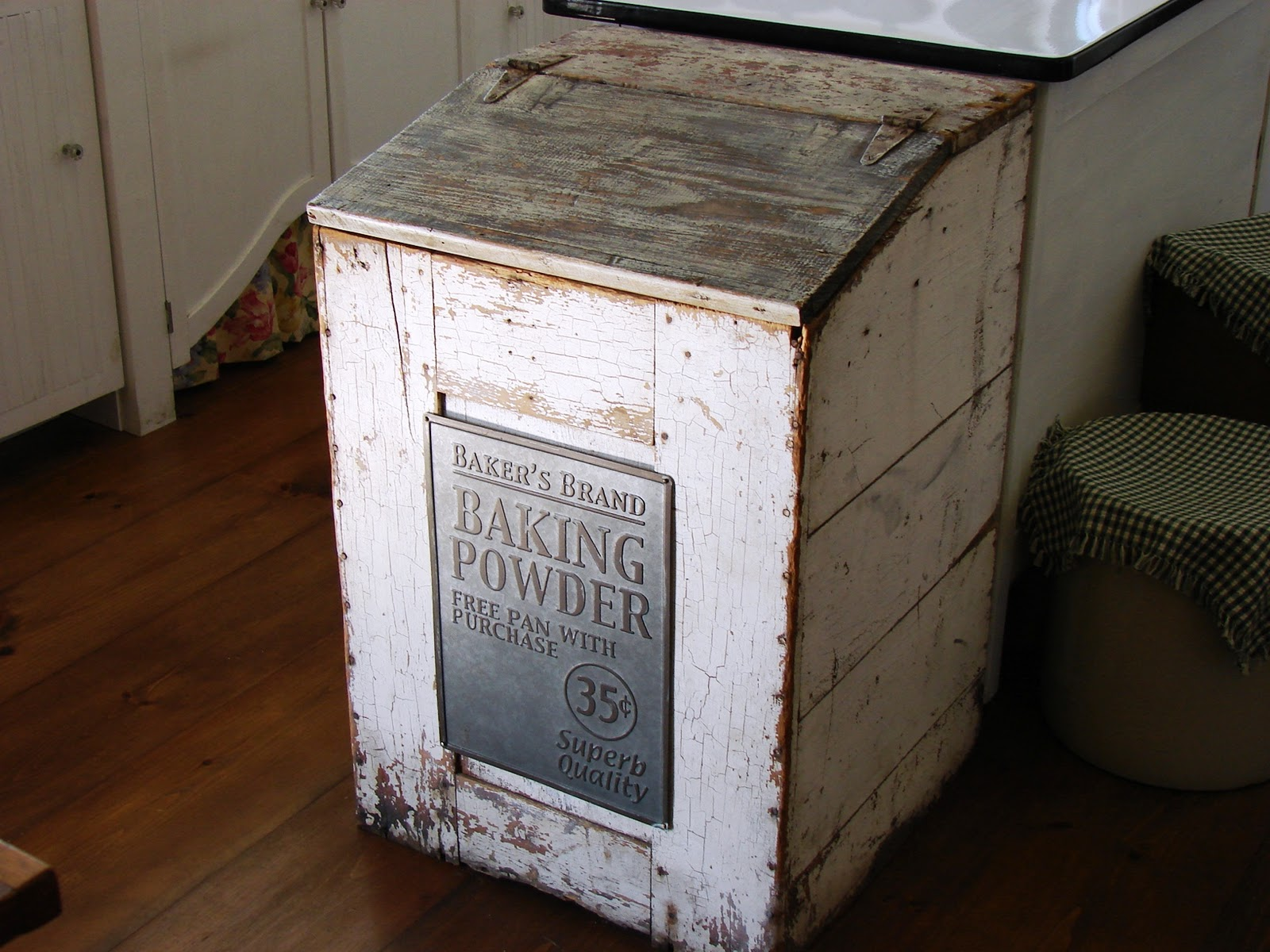Vintage Kitchen Trash Can The Country Farm Home My Kitchen 39s Hidden Secrets