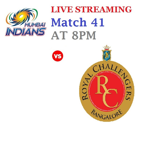RCB vs Mi Live Streaming