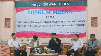 Ketua IWO: Beredarnya Berita Hoax Karena Media Dimanfaatkan Kepentingan Politik