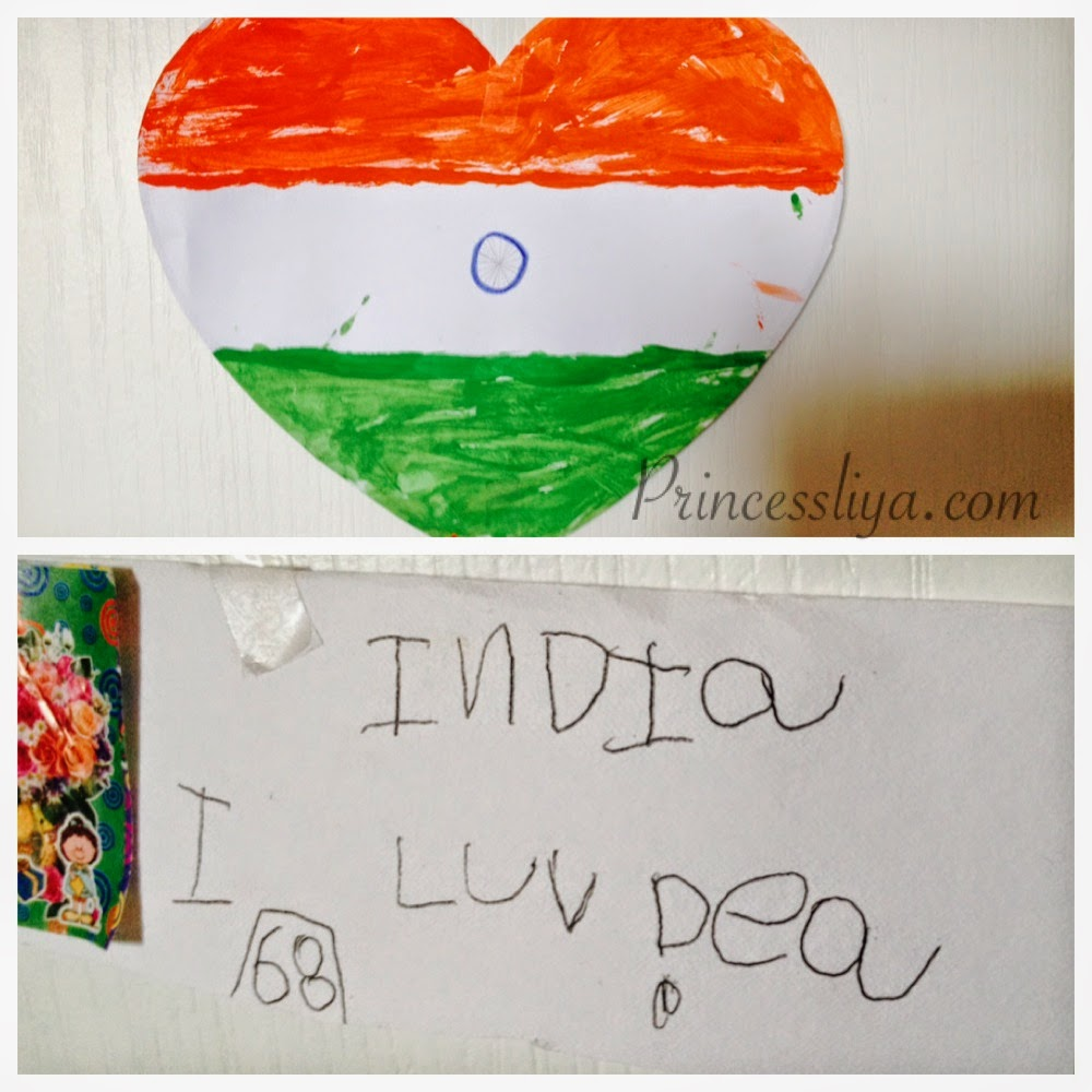 Be using these three colors for the weekend craft she said that   color of our national flag  am proud her at this age knows  lot also life with liya and zain india independence day rh princessliya