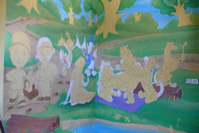 Aranżacja pokoju dziecięcego, malarstwo ścienne, Gdynia