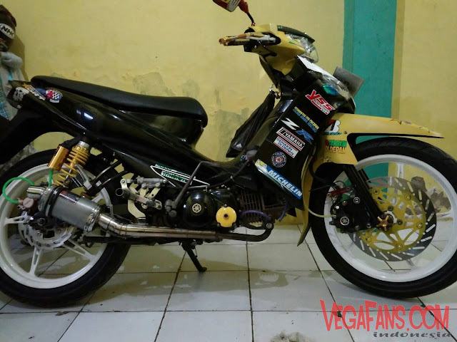 Vega ZR Kuning Hitam Modif Road Race Simple 2
